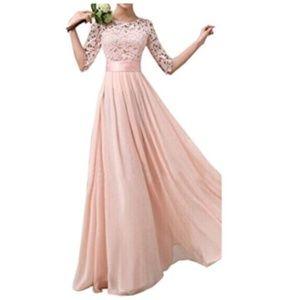 Dresses & Skirts - Lace Chiffon A-line Long Max Bridesmaid Dress